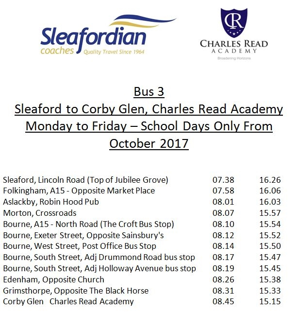Sleaford to Corby Glen, Charles Read Academy